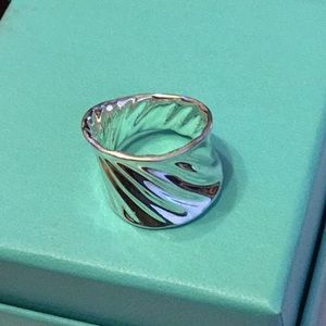 Robert Lee Morris 925 Silver Concave Signed Ring 7